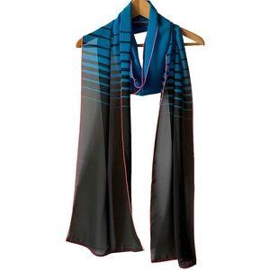 NWT Extra long skinny scarves; not so skinny: BLUE